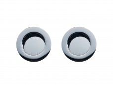 Rond met brede rand - Chrome